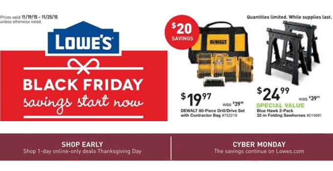 Lowe's Black Friday Ad Is Live