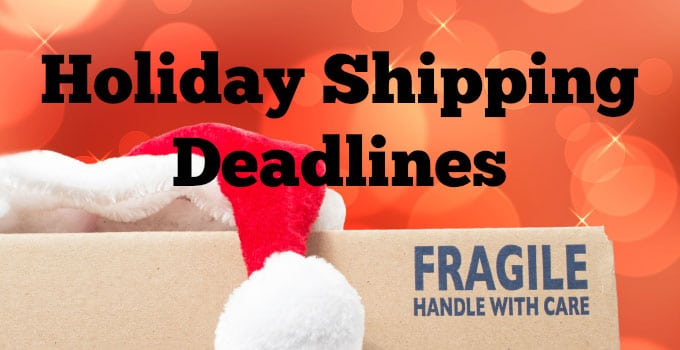 Procrastinators' Guide to Holiday Shipping Deadlines