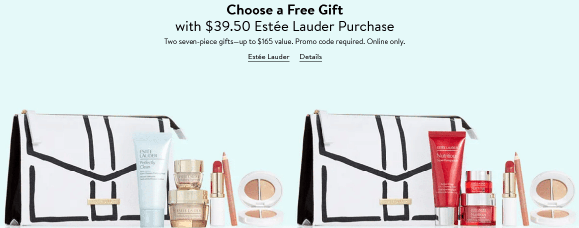 Nordstrom Online free gifts