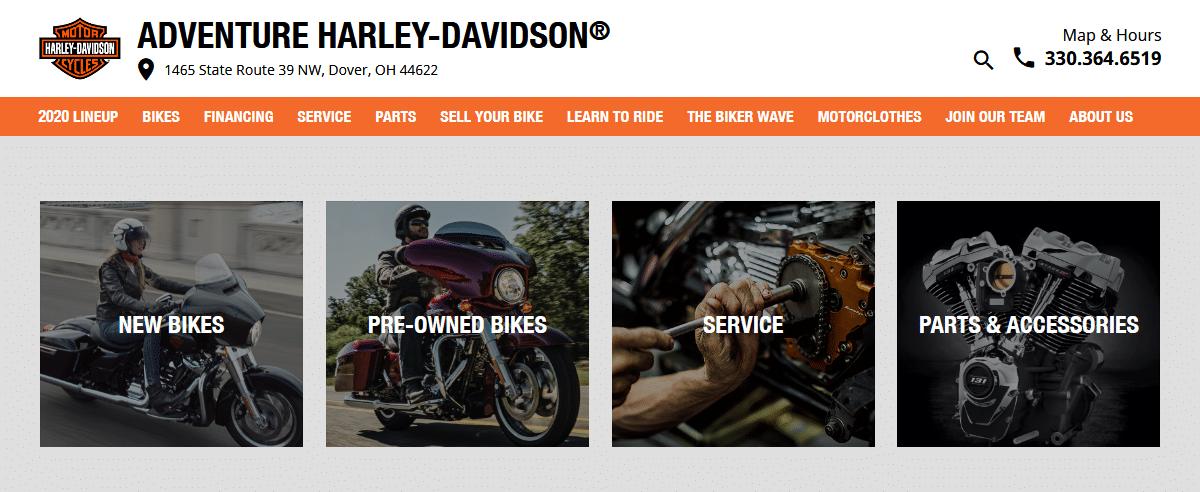 Adventure-Harley-Davidson online
