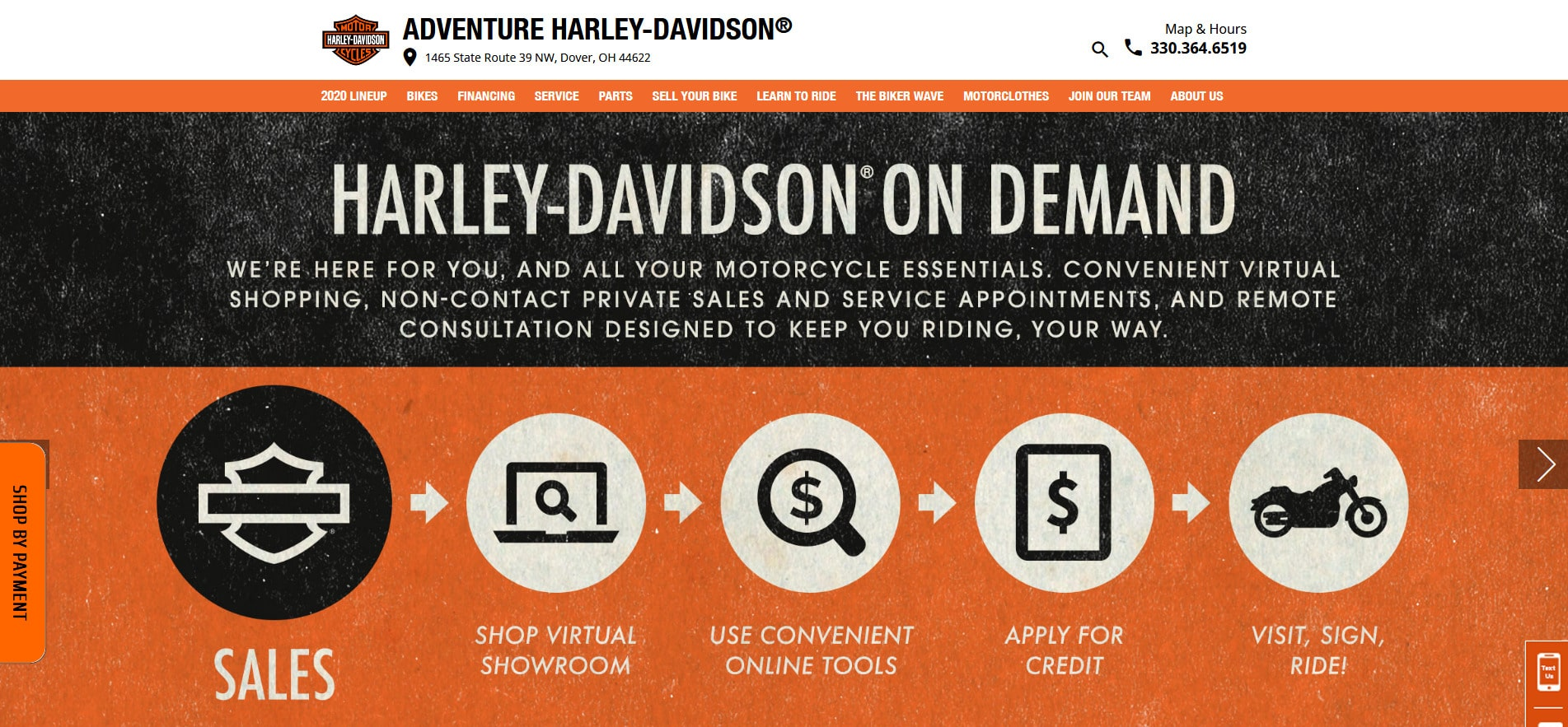 Adventure Harley-Davidson website