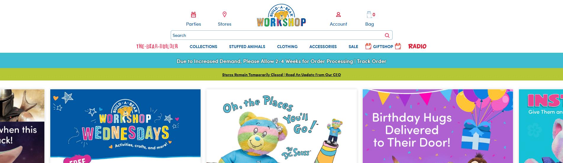 Build-A-Bear online