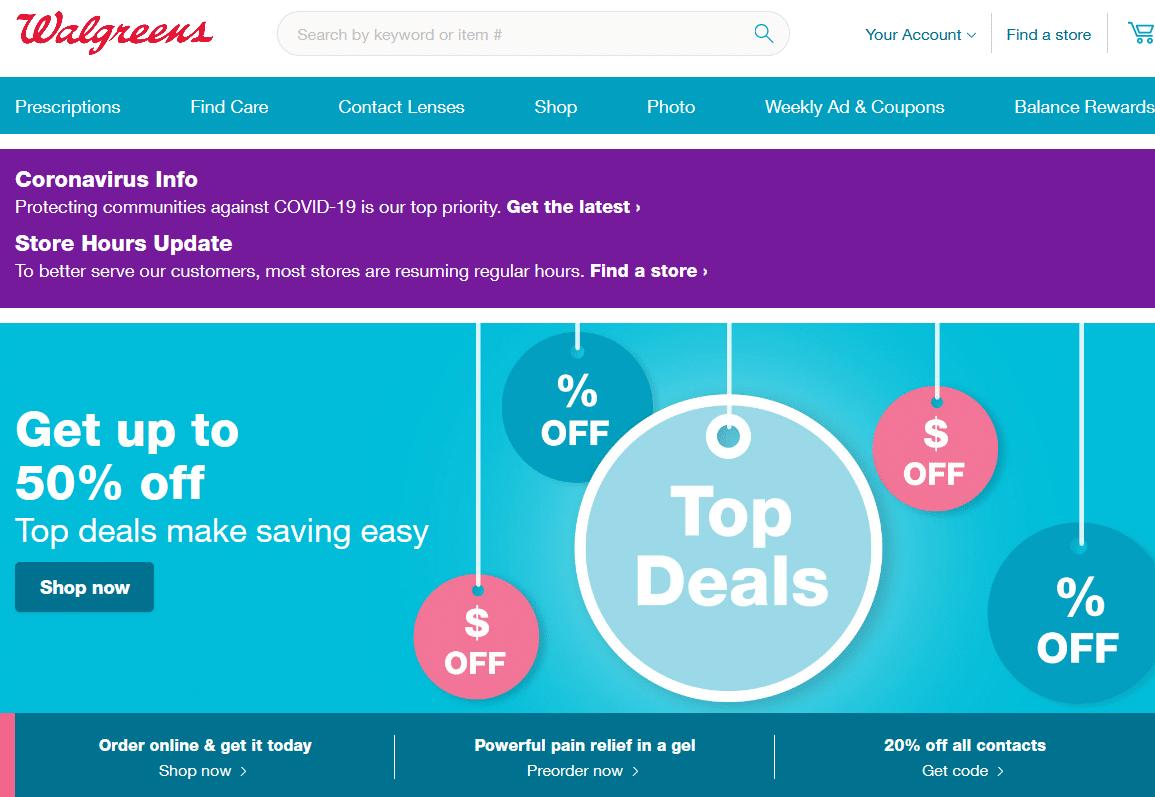Walgreens online