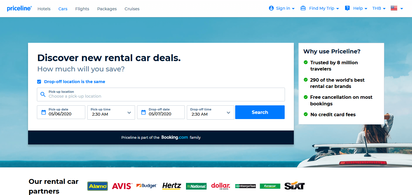 priceline car rental