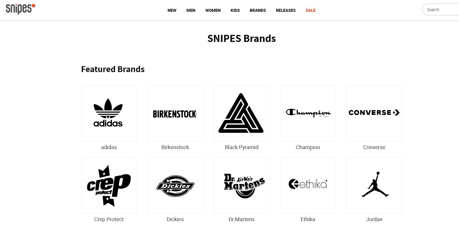Brands Snipes USA