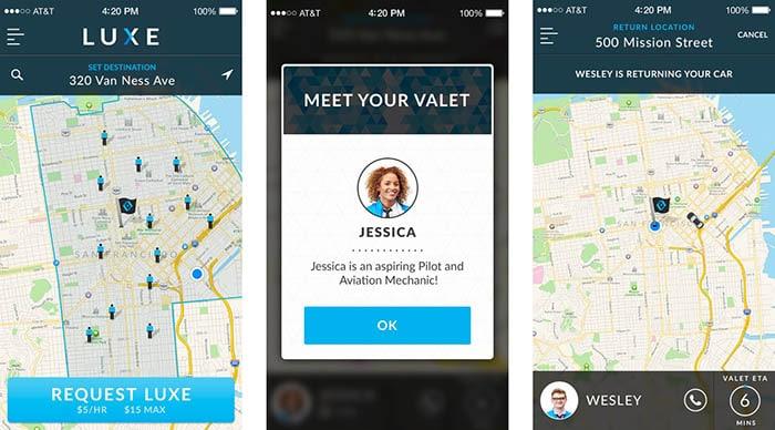 Luxe Valet app