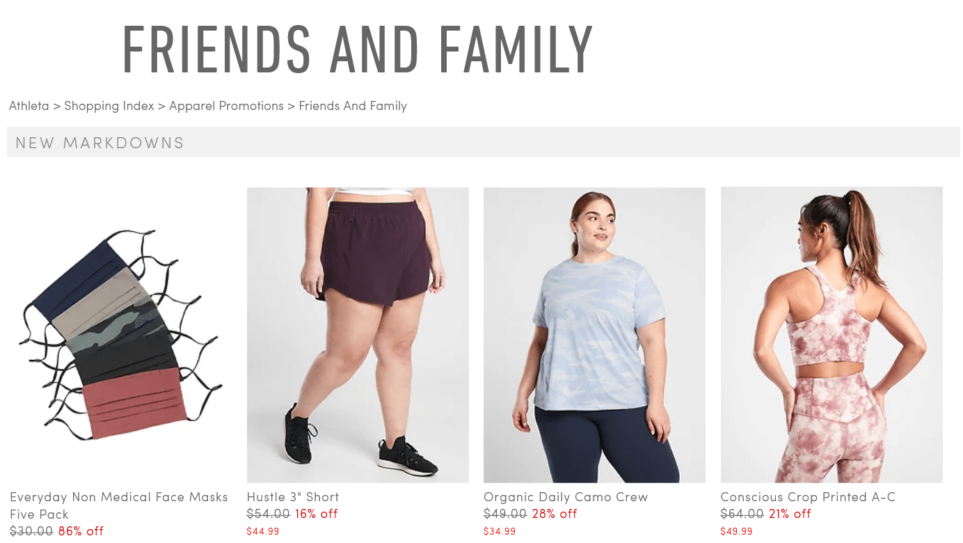 Athleta Friends and Family sale