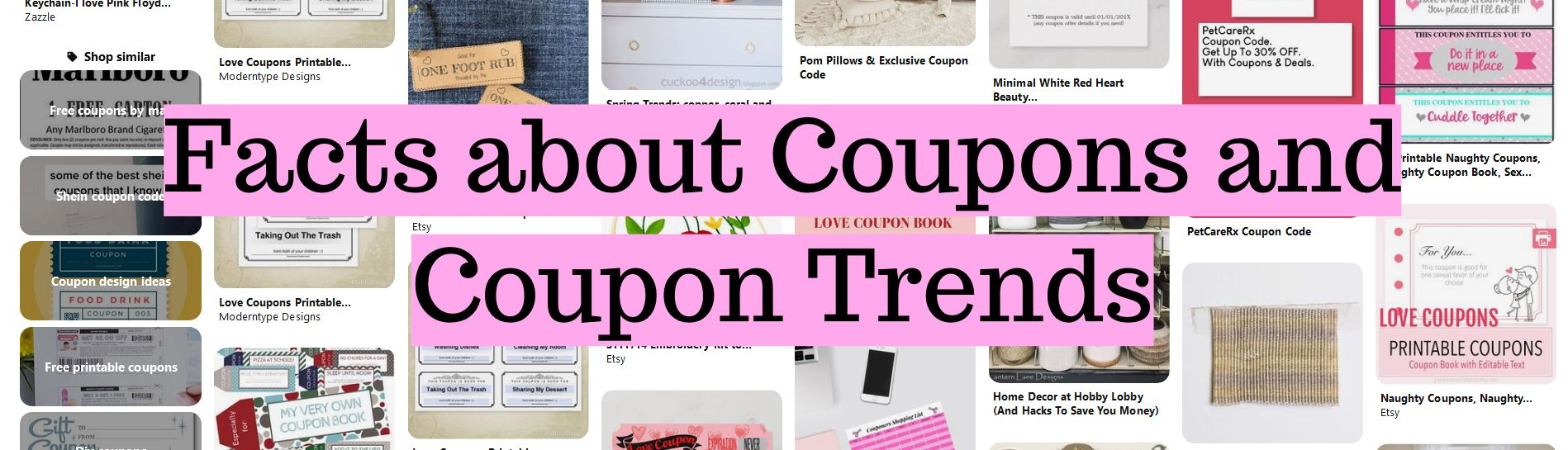 Facts about Coupons and Coupon Trends