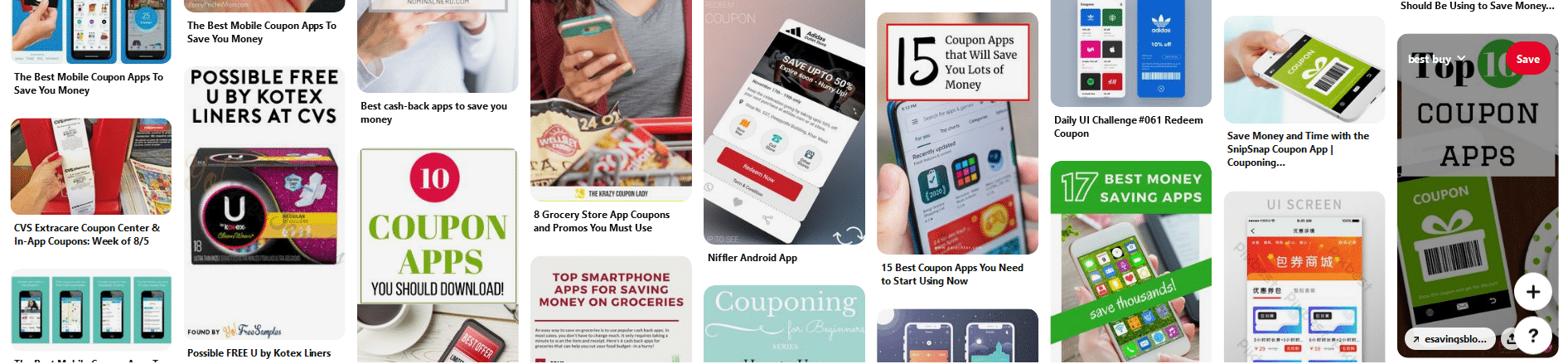Free internet apps allowing for coupons