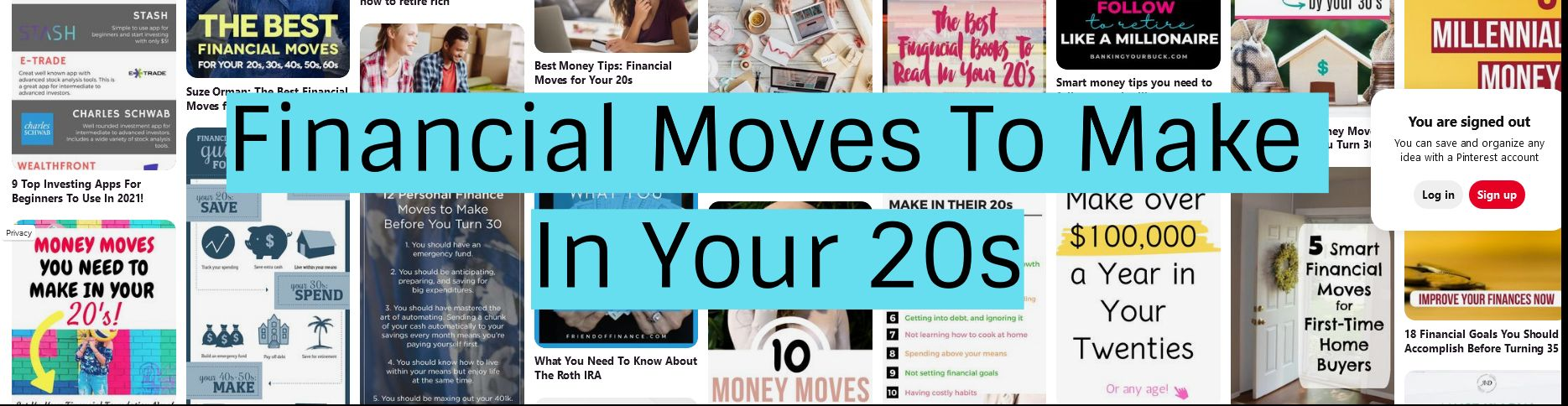 Financial Moves To Make In Your 20s