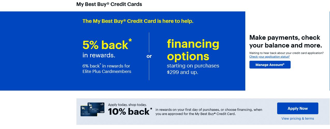 Best Buy Credit Card Rewards