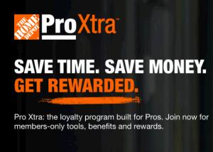 Pro Xtra Loyalty Program at The Home Depot