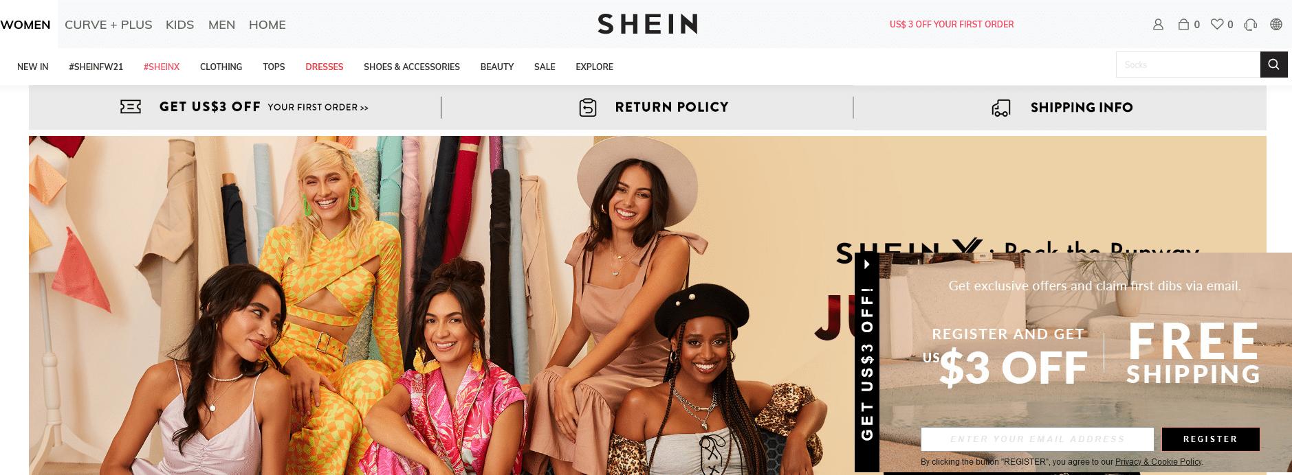 Shein website
