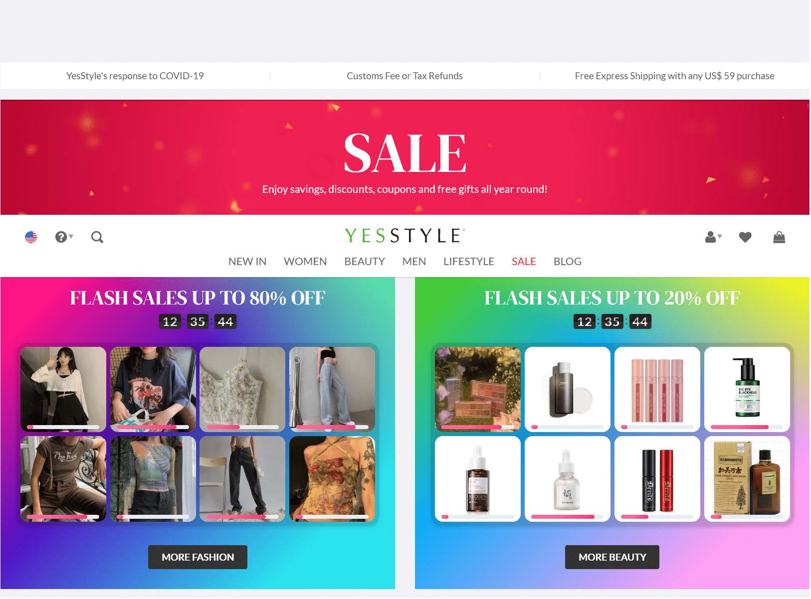 YesStyle deal and sale