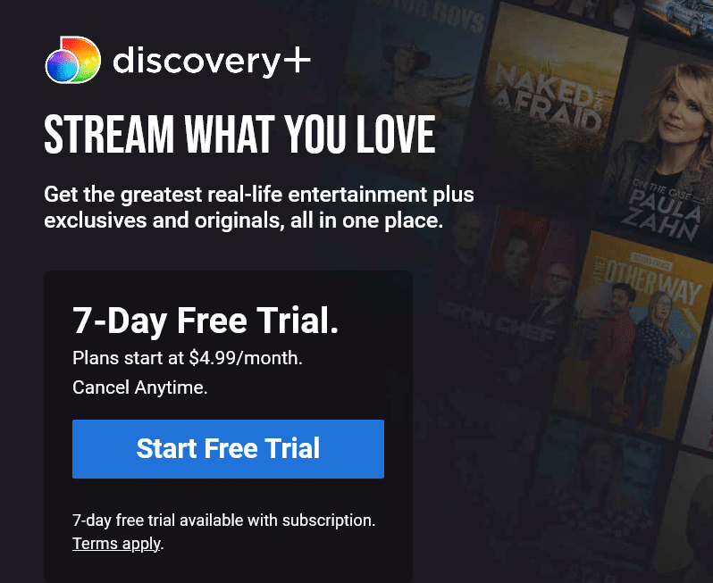 discovery plus website