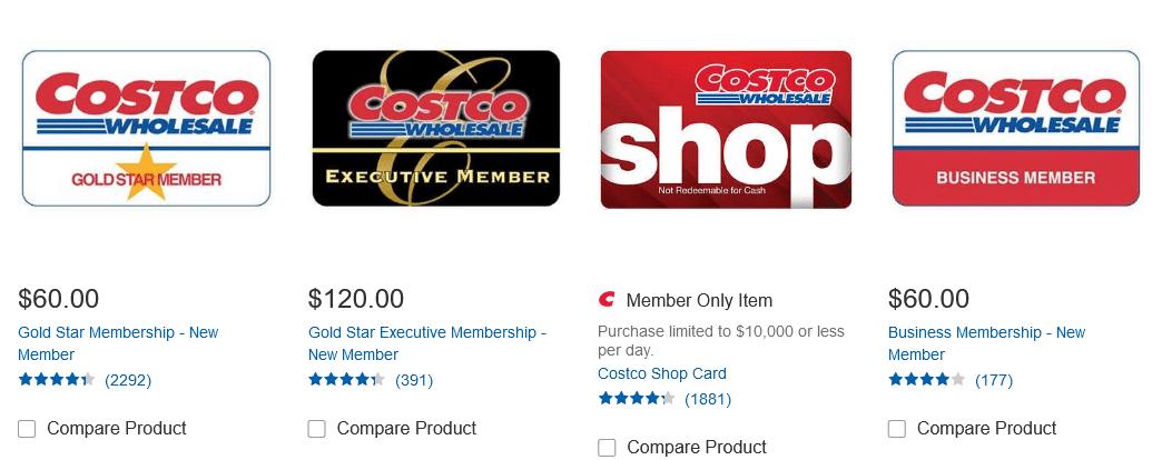 Costco Memberships