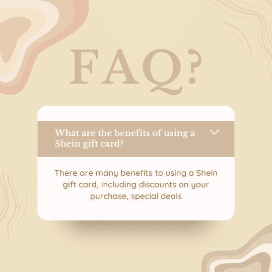 FAQ Shein gift card