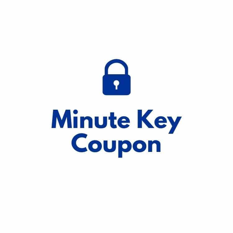Minute key coupon