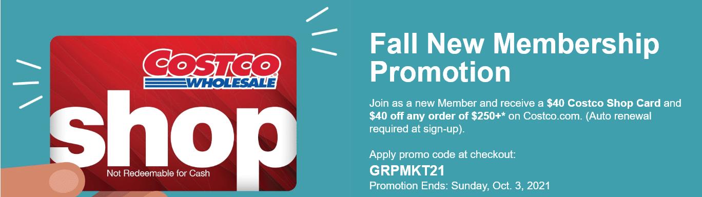 Online Membership Promotion Costco