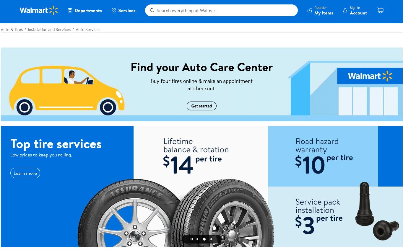 walmart Auto Services more