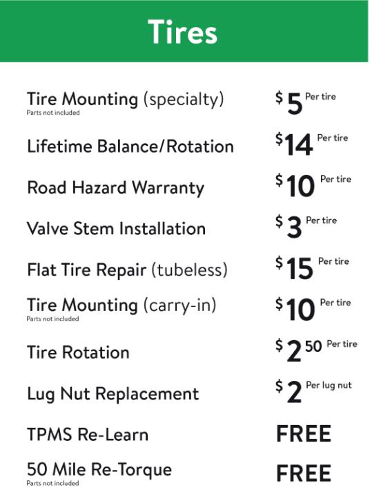 walmart tire service