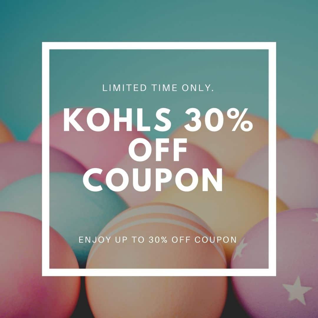 Kohls 30% Off Coupon