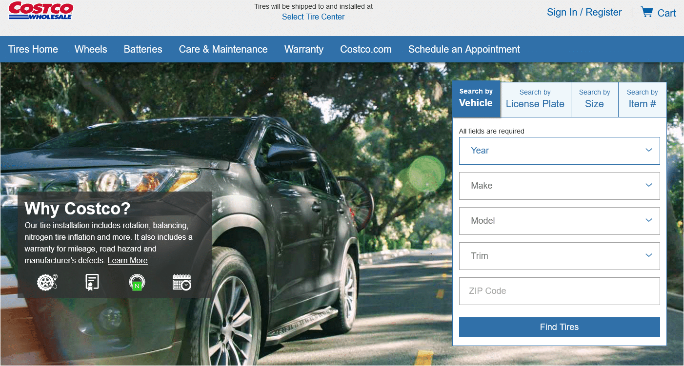 Tires Shop for Car, SUV Truck Tires - Costco