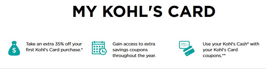 kohls card for 30 off